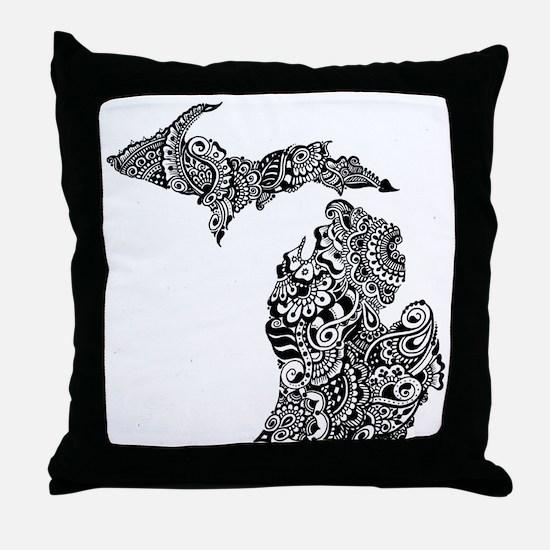 Cute Henna Throw Pillow