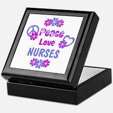 Peace Love Nurses Keepsake Box
