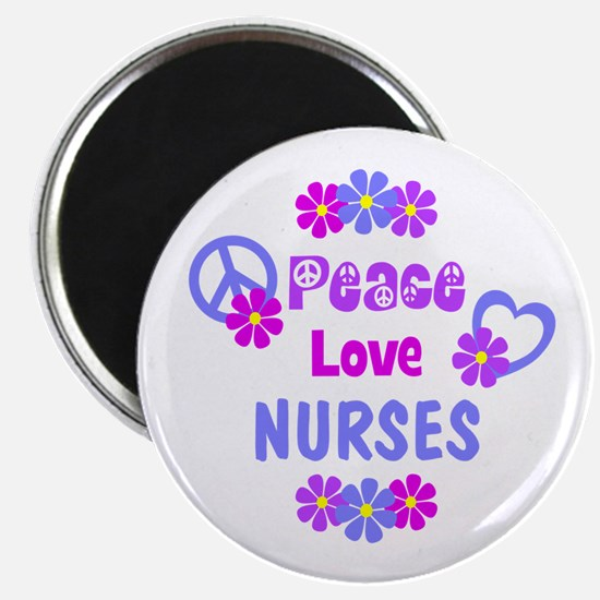 Peace Love Nurses Magnet
