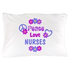 Peace Love Nurses Pillow Case