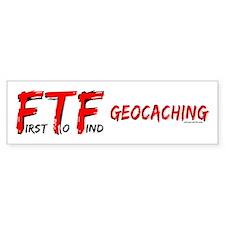 FTF Geocaching Bumper Bumper Sticker