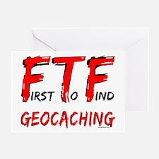 FTF Geocaching Greeting Card