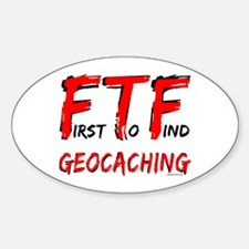 FTF Geocaching Oval Decal