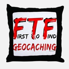 FTF Geocaching Throw Pillow