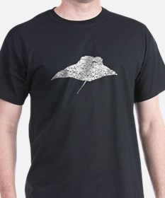 Distressed Manta Ray Silhouette T-Shirt