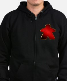 Metallic Meeple - Red Zip Hoodie