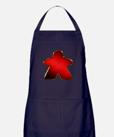 Metallic Meeple - Red Apron (dark)