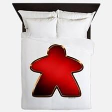 Metallic Meeple - Red Queen Duvet