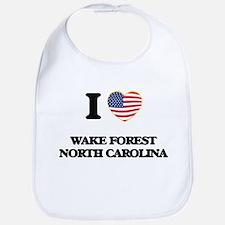 I love Wake Forest North Carolina Bib