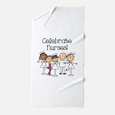 Celebrate Nurses Beach Towel