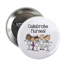 "Celebrate Nurses 2.25"" Button (10 pack)"