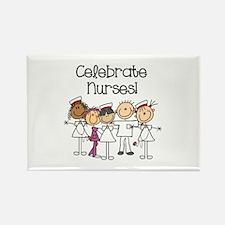 Celebrate Nurses Rectangle Magnet (100 pack)