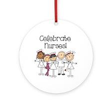 Celebrate Nurses Ornament (round)