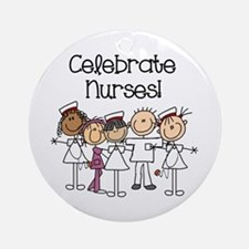 Celebrate Nurses Ornament (round)
