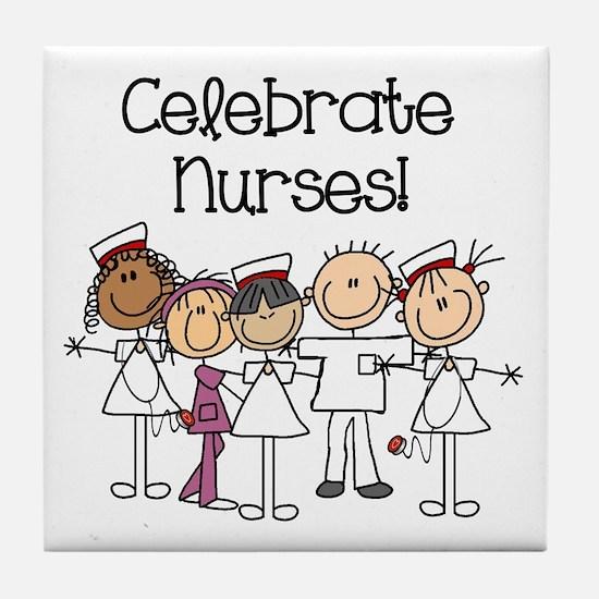 Celebrate Nurses Tile Coaster