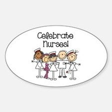 Celebrate Nurses Sticker (Oval)