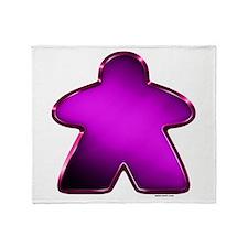 Metallic Meeple - Purple Throw Blanket