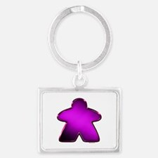Metallic Meeple - Purple Keychains