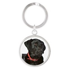 Cute Pet mom Round Keychain