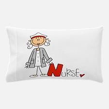 Female Stick Figure Nurse Pillow Case