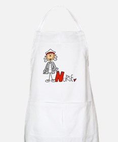 Female Stick Figure Nurse Apron