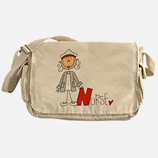 Female Stick Figure Nurse Messenger Bag