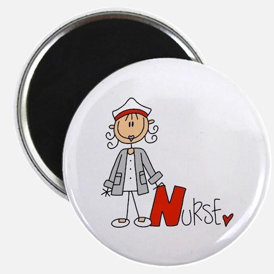 Female Stick Figure Nurse Magnet
