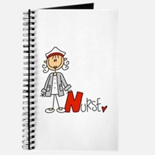 Female Stick Figure Nurse Journal