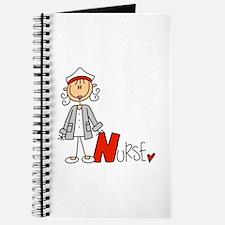 Female Stick Figure Nurse Journal