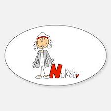 Female Stick Figure Nurse Stickers