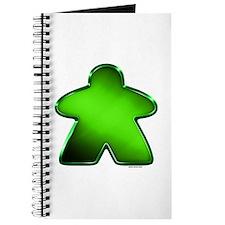 Metallic Meeple - Green Journal