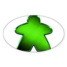 Metallic Meeple - Green Decal