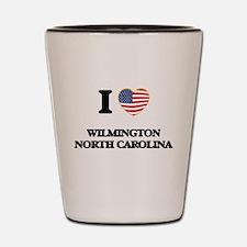 I love Wilmington North Carolina Shot Glass