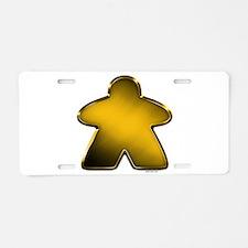 Metallic Meeple - Gold Aluminum License Plate