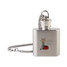 Female EMT I Save Lives Flask Necklace