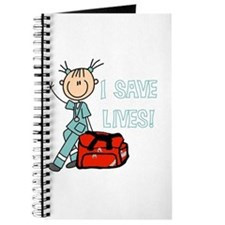 Female EMT I Save Lives Journal