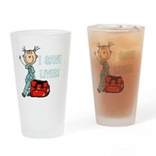 Female EMT I Save Lives Drinking Glass
