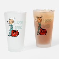 Female EMT I Save Lives Drinking Glass