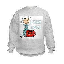 Female EMT I Save Lives Sweatshirt