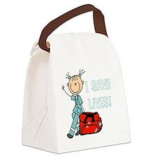 Female EMT I Save Lives Canvas Lunch Bag