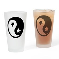 Ying Yang Meeple Drinking Glass