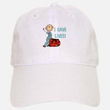 Male EMT I Save Lives Baseball Baseball Cap