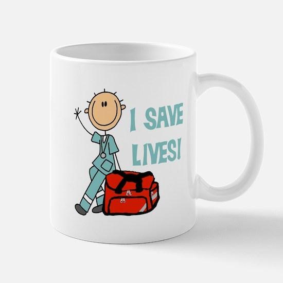Male EMT I Save Lives Mug