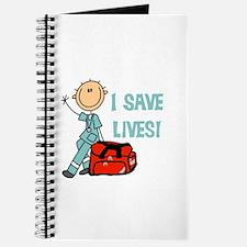Male EMT I Save Lives Journal