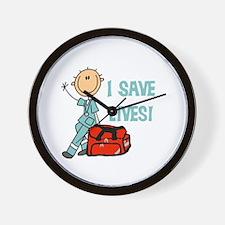 Male EMT I Save Lives Wall Clock