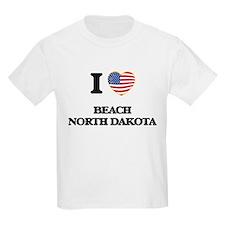 I love Beach North Dakota T-Shirt