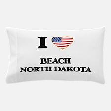 I love Beach North Dakota Pillow Case