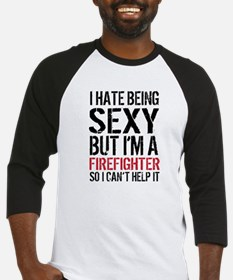 Sexy Firefighter Funny Tee Baseball Jersey