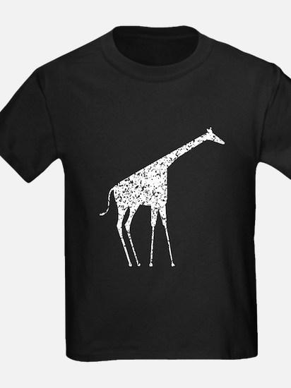 Distressed Giraffe Silhouette T-Shirt