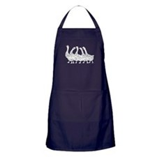 Distressed Geese Silhouette Apron (dark)